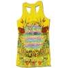 Ed Hardy Button Tank Top for Girls - Yellow