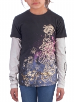 Ed Hardy Kids Girls Long Sleeve T-Shirt - Black