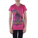Ed Hardy Toddlers Girls Short Sleeve V-Neck Tunic- Hot Pink