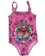 Ed Hardy Toddlers Swimsuit - Pink