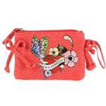 Ed Hardy Girls Tiana Wristlet - Red