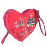 Ed Hardy Girls Saffron Wristlet- Orange