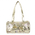 Ed Hardy Girls Alice Barrel  Bag- Gold