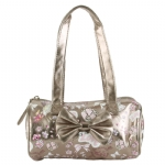 Ed Hardy Girls Alice Barrel  Bag- Silver