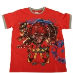 Ed Hardy Boys Double Cuff Panther T-shirt - Red