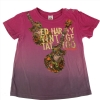 Ed Hardy Girls Guitar T-Shirt - Pink