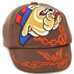 Ed Hardy Baby Knit Bulldog Cap - Brown