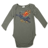 Ed Hardy Baby  Devil Long Sleeve Onesie - Grey