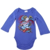 Ed Hardy Baby Battle Long Sleeve Onesie -Blue