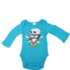 Ed Hardy Baby Skull in Love Long Sleeve Onesie -Teal