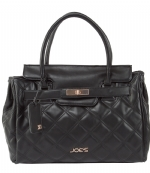 Joe's Jeans Posh Quilted Tote Handbag - Black
