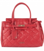 Joe's Jeans Posh Quilted Tote Handbag - Red