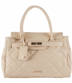 Joe's Jeans Posh Quilted Tote Handbag - Taupe