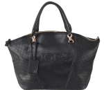 Joe's Jeans Glam Perforated Zipper Tote Handbag - Black