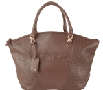Joe's Jeans Glam Perforated Zipper Tote Handbag - Brown