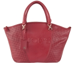 Joe's Jeans Glam Perforated Zipper Tote Handbag - Red