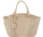 Joe's Jeans Glam Perforated Zipper Tote Handbag - Taupe