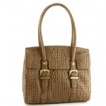 Etienne Aigner Kendra Crocodile Tote - Putty