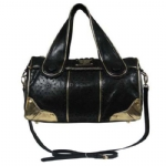 7286 Lindsay Lohan Candy Satchel Bag- Gold