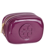 Tory Burch Small Classic Cosmetic Case-Purple