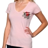 Ed Hardy Womens Core Basic Love Kills Slowly V-Neck Tee-Light Pink