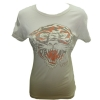 Ed Hardy Womens  Basic New Tiger  Crew Neck T-Shirt-Ivory