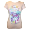 Ed Hardy Womens Basic SS True To My Love Crew Neck T-Shirt-Bubble Gum
