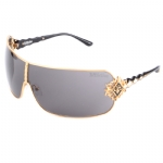 Affliction BOOMER Sunglasses - Black Shiny/Gold