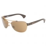 Affliction KOBE Sunglasses - Ant/Gold/Brown