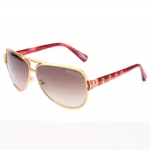 Affliction WARRIOR Sunglasses - Brush Gold/Red