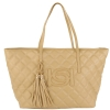 Bebe Quilted Lisa Tote-Taupe