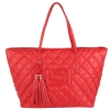 Bebe Quilted Lisa Tote-Red