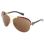 Affliction BAXTER-A Sunglasses - Black Red/Gold
