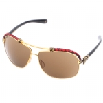 Affliction BAXTER-B Sunglasses - Black Red/Gold