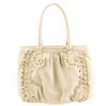 Betsey Johnson Frilled Out Tote-Bone