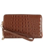 Big Buddha Roxanne Wristlet Wallet-Brown