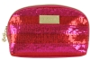 Betsey Johnson Stripe Cosmetic Case -Pink