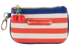 Betsey Johnson Americana Zip Coin Small Wristlet - Blue