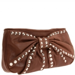 Betsey Johnson Bows And Whistles Clutch Bag - Chocolate