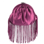 Betsey Johnson Fringe Pouch- Purple