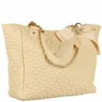Betsey Johnson Quilted LoveTote- Ivory