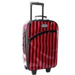Betsey Johnson Wheeled Striped Carry On
