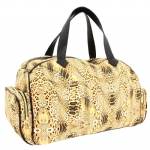 Betsey Johnson Kaleida Kitty Weekender Bag -Natural