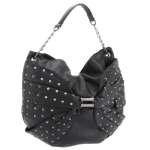Betsey Johnson Wash Out Hobo-Black
