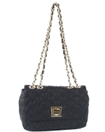 Betsey Johnson Be My One and Only Flapover Satchel- Black
