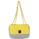 Betsey Johnson Be My One and Only Flapover Satchel- Yellow