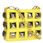 Betsey Johnson Stud Muffin Crossbody Bag- Yellow
