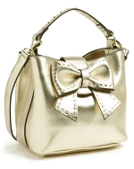 Betsey Johnson Hopeless Romantic Bucket Bag-Gold