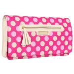 Betsey Johnson Dottie Dots Clutch-Pink
