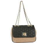 Betsey Johnson Will You Be Mine Flapover Satchel-Tan